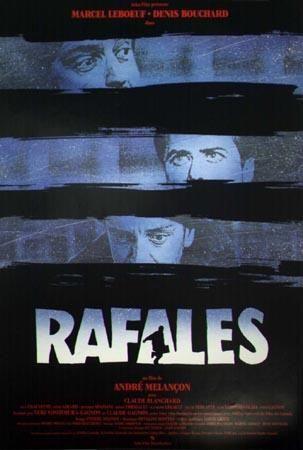 Affiche du film Rafales d'André Melançon (Coll. Cinémathèque québécoise)