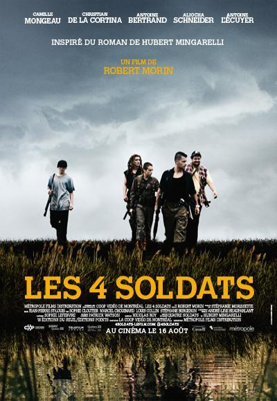 Affiche du film Les 4 soldats (création Karine Savard)