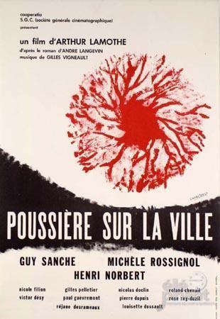 Image de l'affiche originale du film Poussiere sur la ville (Arthur Lamothe, 1968 - Coll. Cinémathèque québécoise)
