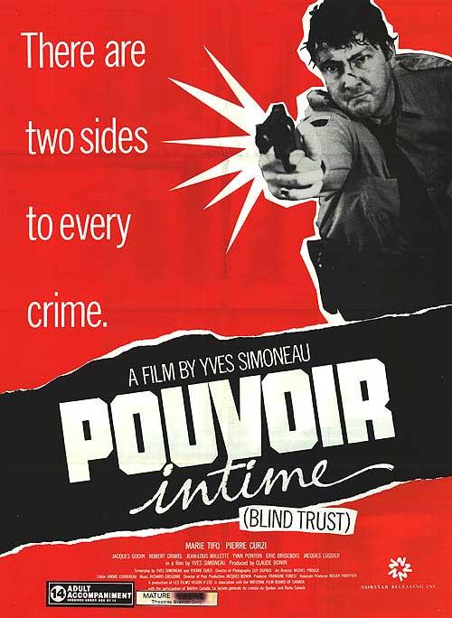 Affiche américaine du film Pouvoir Intime (Blind Trust)