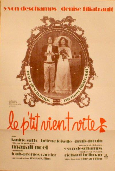 Image de l'affiche originale du film Le p'tit vient vite (louis-George carrier, 1972)