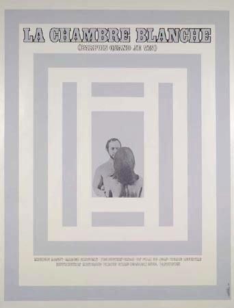 Affiche du film La chambre blanche (Jean Pierre Lefebvre, 1969 - Coll. Cinémathèque québécoise)
