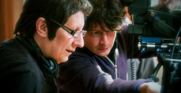 Robert Lepage et Pedro Pires le 5 mars 2010 sur le plateau de Triptyque