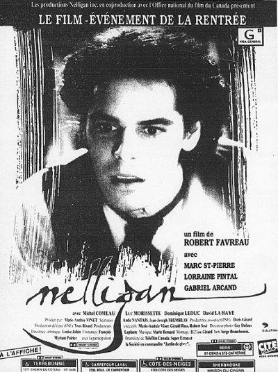 Encart publicitaire du film Nelligan (R. Favreau)