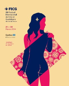 Affiche du Festival international du film de Guadalajara 2014
