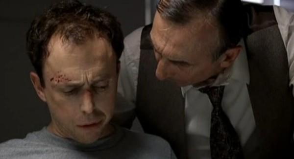 Denis Trudel et Gaston Lepage dans La lâcheté (Marc Bisaillon, 2006)