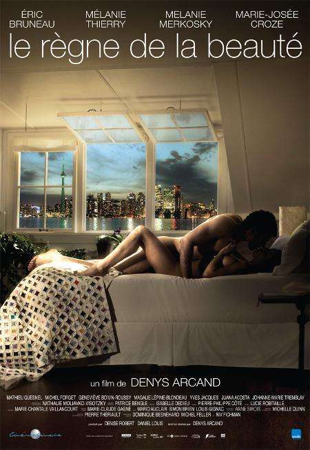 Affiche officielle du film Le règne de la beauté de Denys Arcand (©Films Séville)