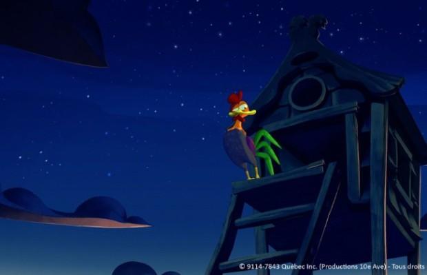 Le coq de St-Victor la nuit (©Productions 10e Ave.)