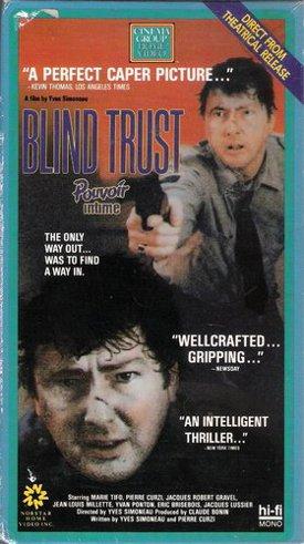 Jaquette VHS du film Pouvoir intime (Blind Trust)