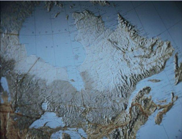 Documentaire de Gilles Groulx intitulé Québec... ? - Carte du Québec vue dans le film (collection personnelle)