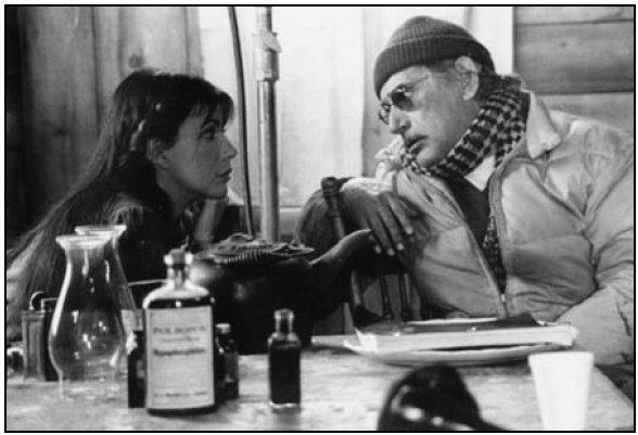Carole Laure et Gilles Carle - Photo de tournage du film Maria Chapdelaine, Pierre Dury - Collection Cinémathèque québécoise