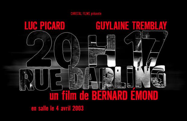 Page d'accueil du microsite du film 20h17 rue Darling