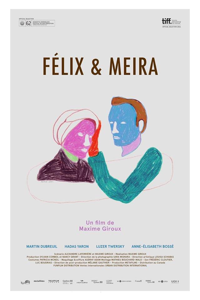 Affiche québécoise du film Félix et Meira (2015, Maxime Giroux - ©FunFilm)