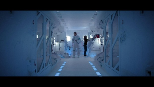Jean-Nicolas Verreault et Julie Perreault dans le vaisseau de Projet M