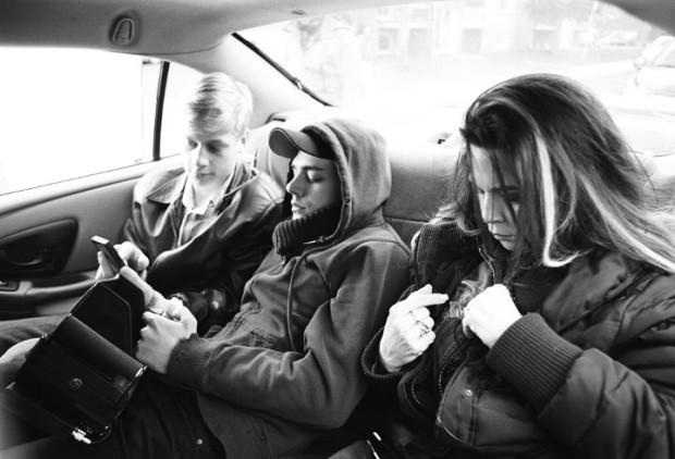 Dorval, Pilon et Dolan sur le tournage de Mommy