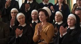 Image promotionnelle du film La passion d'Augustine : Céline Bonnier, Marie-France Lambert et Andrée Lachapelle au premier rang (Léa Pool, 2015 - Photo : Véro Boncompagni)
