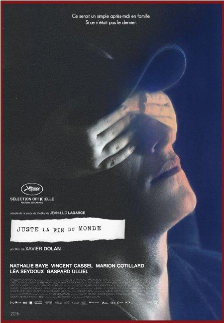 Affiche finale du film Juste la fin du monde
