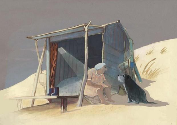 Image extraite du film d'animation Louise en hiver
