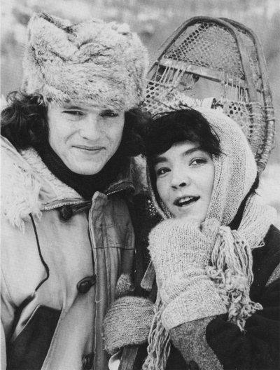 Image des comédiens Andrea Parro et Emmanuel Charest dans le film La Fille du maquignon de Mazouz (Source : Collection personnelle)