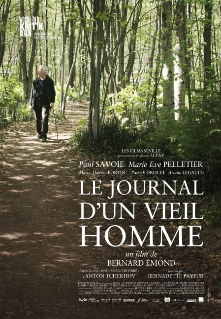 Affiche du film Le journal d'un vieil homme (réal. Bernard Émond - Films Séville)