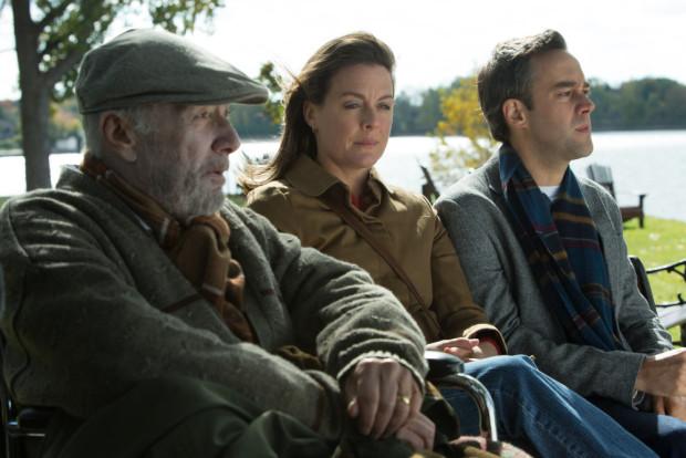 Image des comédiens Gilbert Sicotte, Julie LeBreton et François Létourneau dans Paul à Québec (Source: Remstar Films)