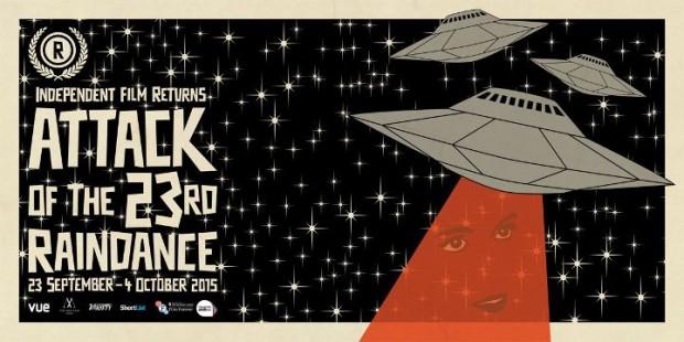 Affiche de la 23e édition du festival Raindance