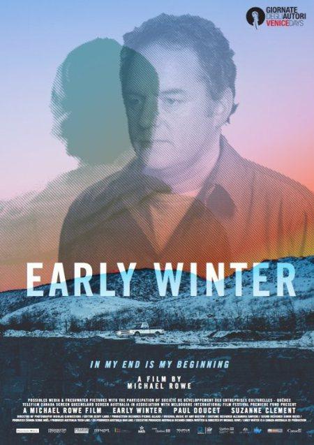 Affiche anglophone du film Early Winter avec le portrait du comédien Paul Doucet