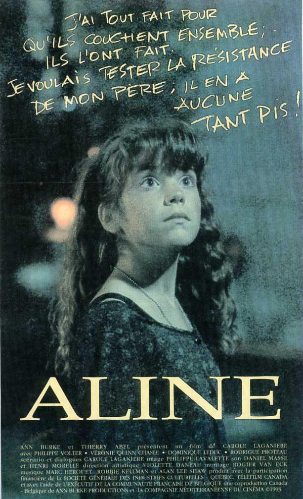 Jaquette VHS du film Aline de Carole Laganière (collection personnelle)