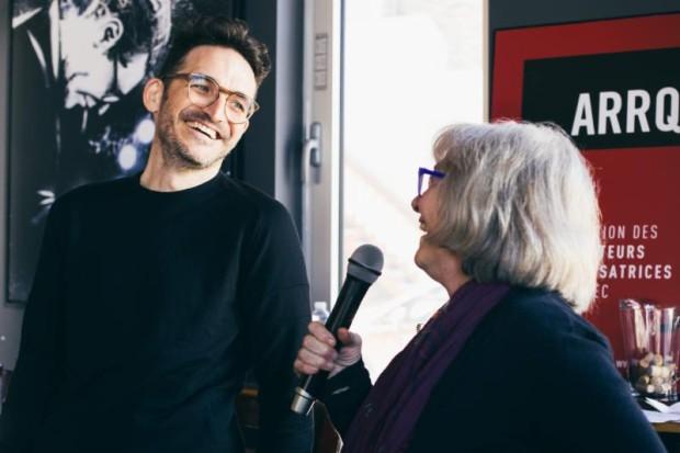 Micheline Lanctôt, marraine du PCCQ et François Delisle, lauréat de la 5e édition - Crédit : Béatrice Flynn