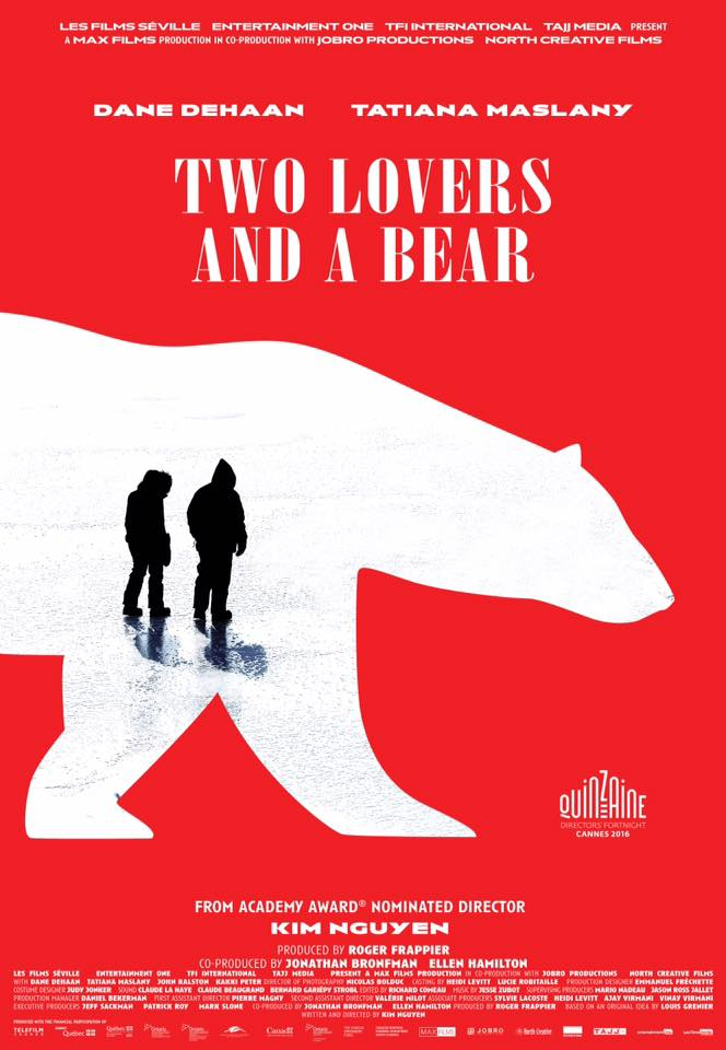 Affiche du film Two Lovers And A Bear (Kim Nguyen) - Source: Films Séville