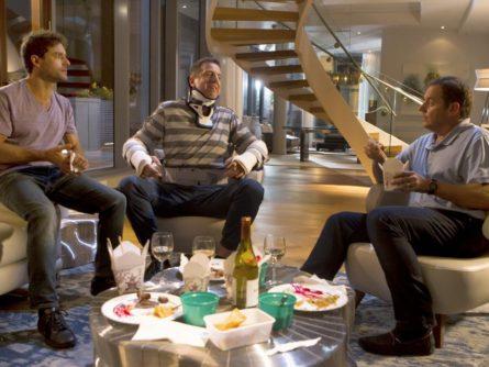Image officielle des comédiens Guillaume Lemay-Thivierge, Patrice Robitaille, Paul Doucet dans Les 3 p'tits cochons 2 de Jean-François Pouliot