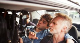 Juste la fin du monde – Photo de tournage : Xavier Dolan et son directeur photo André Turpin - Photo : Shayne Laverdière, courtoisie de Sons of Manual