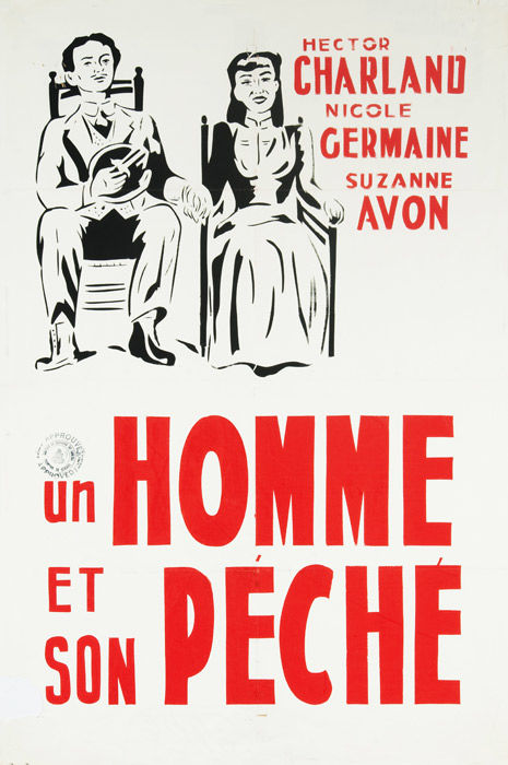 Affiche du film Un homme et son péché (Paul Gury, 1949 - Coll. Cinémathèque québécoise)