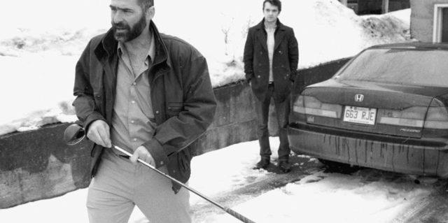 Image du comédien Hugo Dulac dans Harry portrait d'un détective privé de Maxime Desruisseaux (source : page Facebook du film)