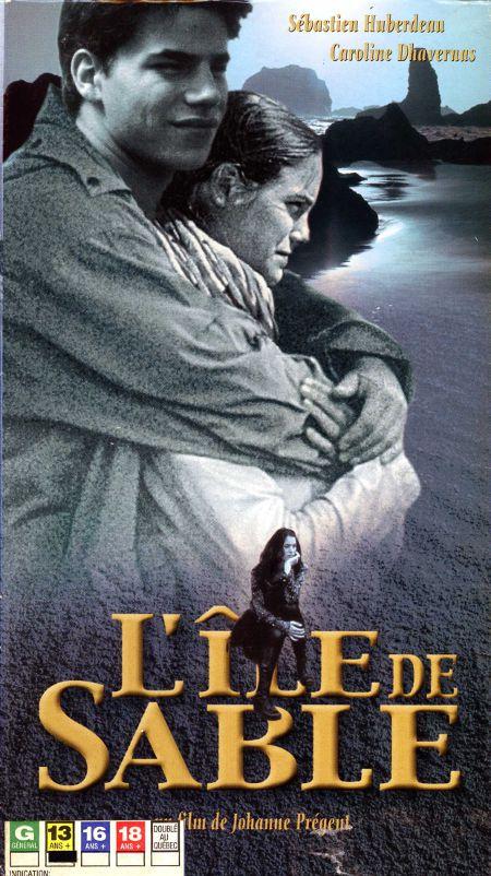 Jaquette VHS du film L'île de sable de Johanne Prégent (image ©filmsquebec.com)