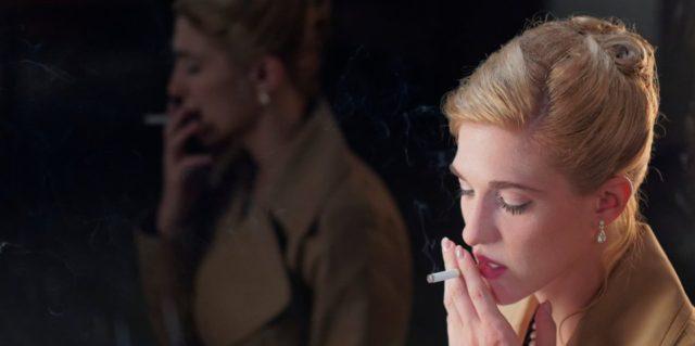 La comédienne Mylène Mackay dans Nelly d'Anne Émond (Films Séville)