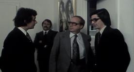 Image extraite du film Réjeanne Padovani (René Caron au centre) - ©filmsquebec.com