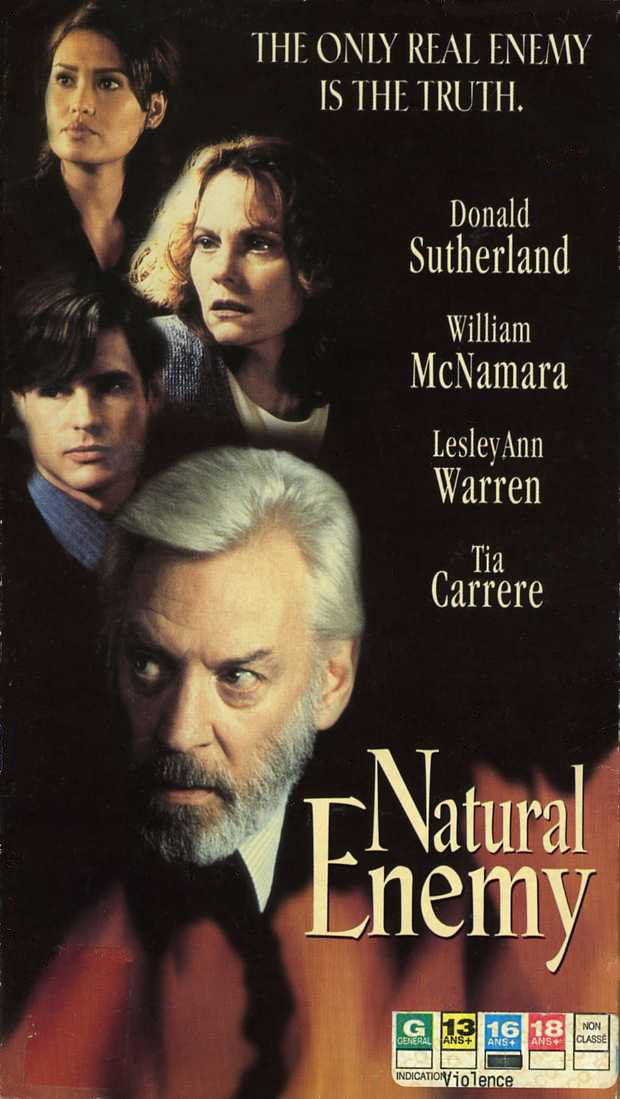 Jaquette VHS du suspense psychologique Natural Enemy réalisé par Douglas Jackson en 1996