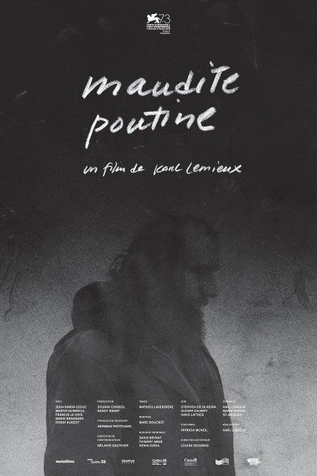 Affiche officielle canadienne du film Maudite Poutine