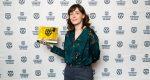 Sophie Goyette et son prix reçu à Amsterdam (photo courtoisie Sophie Goyette)