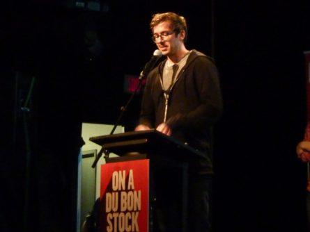 Vincent Biron lors de la remise des Prix aux RVCQ 2017
