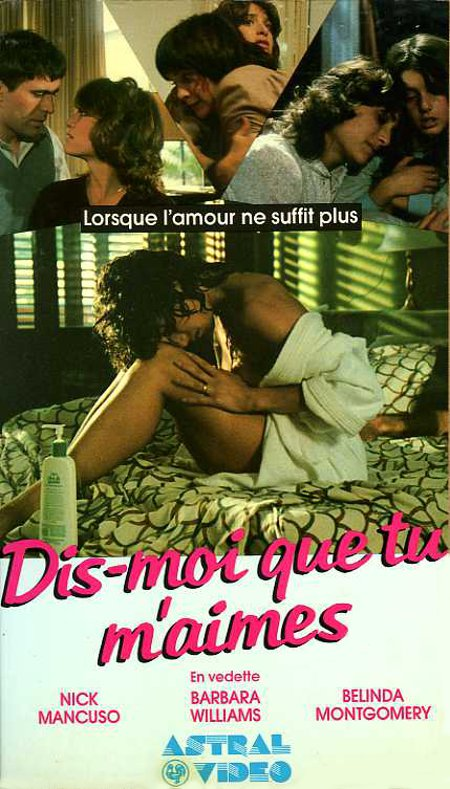 Jaquette de la VHS du film Tell Me That You Love Me de Tzipi Tropé (Collection filmsquebec.com)