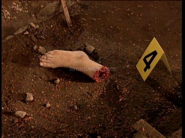 Découverte d'un pieds découpé par la détective Maud Graham dans Le collectionneur