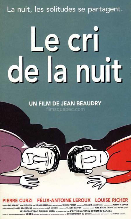 Jaquette VHS du drame Le cri de la nuit de Jean Beaudry (1995)