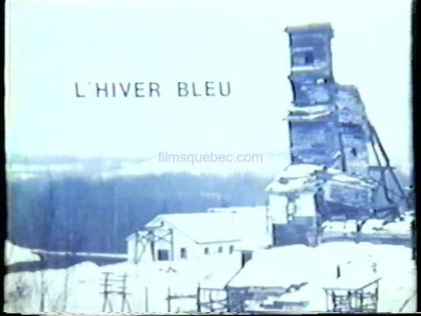 """Le carton d""""ouverture du film Hiver bleu d'André Blanchard"""