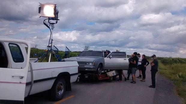 Image de tournage de Quand l'amour se creuse un trou d'Ara Ball (photo courtoisie)
