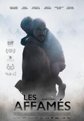 Affiche du film Les affamés de Robin Aubert (Christal Films) - On y voit Marc-andré Grondin tenir un petit garçon dans ses bras