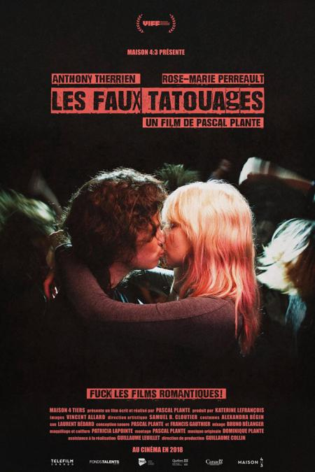 """Affiche du film de Pascal Plante """"Les faux tatouages"""" - En salle en 2018."""