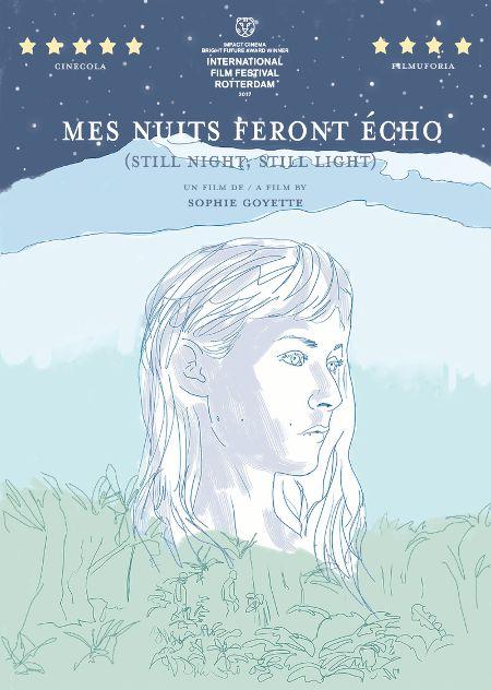 Image de la pochette DVD du film Mes nuits feront écho de Sophie Goyette (La Distributrice de films)