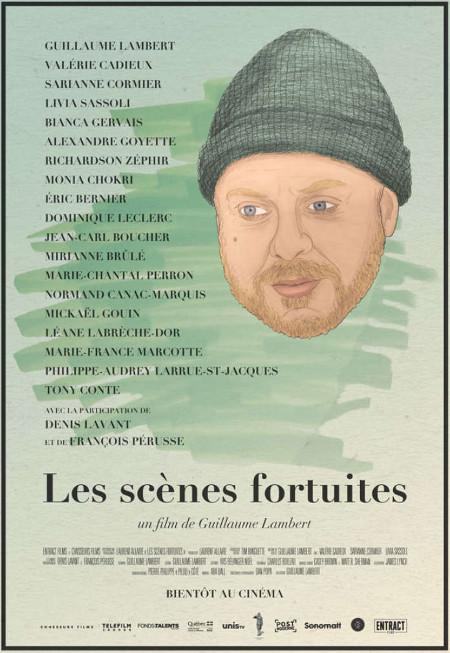 Affiche du film Les scènes fortuites de Guillaume Lambert - En salle le 26 janvier 2018 (Source: Entract Films)